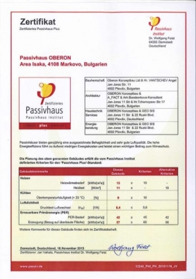 certified Passivhaus Standard Plus